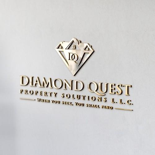 "Create an amazing elegant unique home logo for ""Diamond Quest Property Solutions"""
