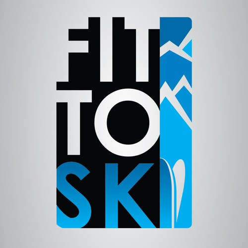 Create a logo for new fitness brand Fit to Ski.