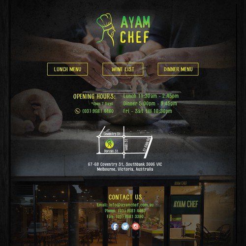 Create website for a restaurant
