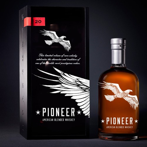 Logo for Pioneer - American Whiskey