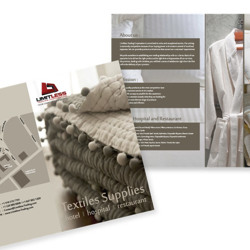 Limitless Trading Corporation needs Brochures designed.