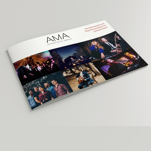 Brochure for Anthem Music Agency
