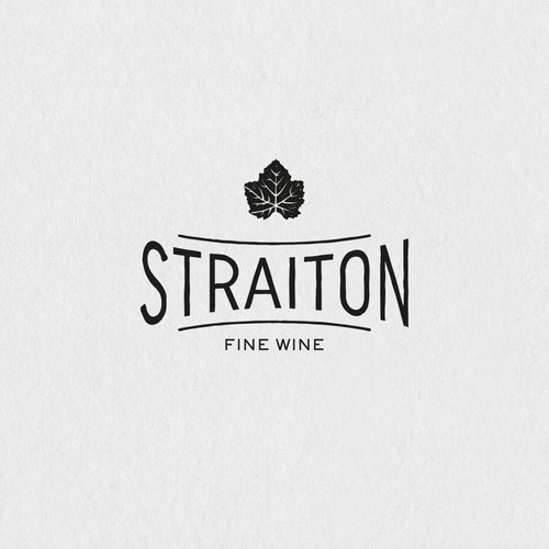 Classic logo for a wine trader