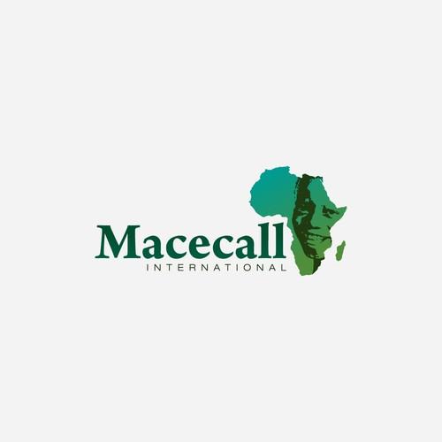 Macecall internacional logo desing