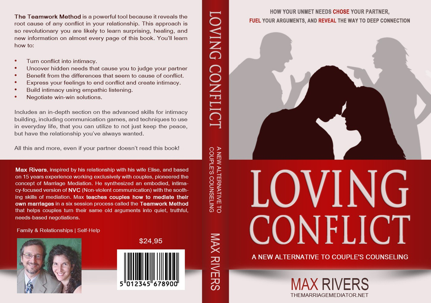 Design a book cover that saves marriages