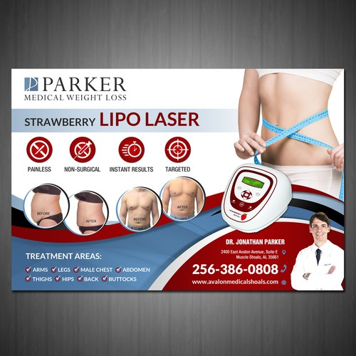 PRINT ad for LIPO LASER machine in medical weight loss clinic