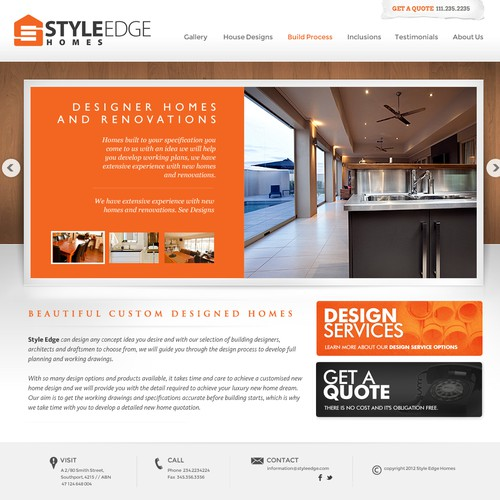 Create the next website design for Style Edge Homes