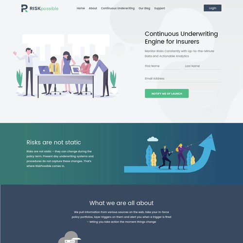 Web design for insurance-tech company