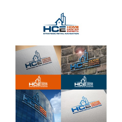 Create a sharp logo that represents Home Center Experts (HCE)consulting group