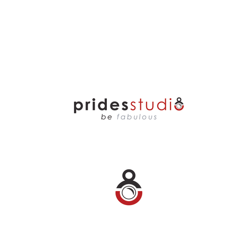 simple and clean logo Prides Studio