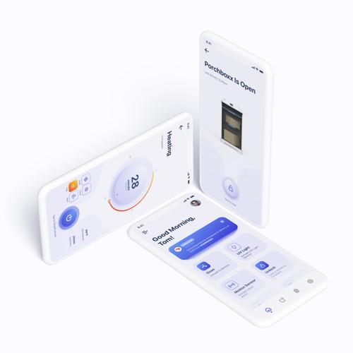 Porchboxx mobile app design