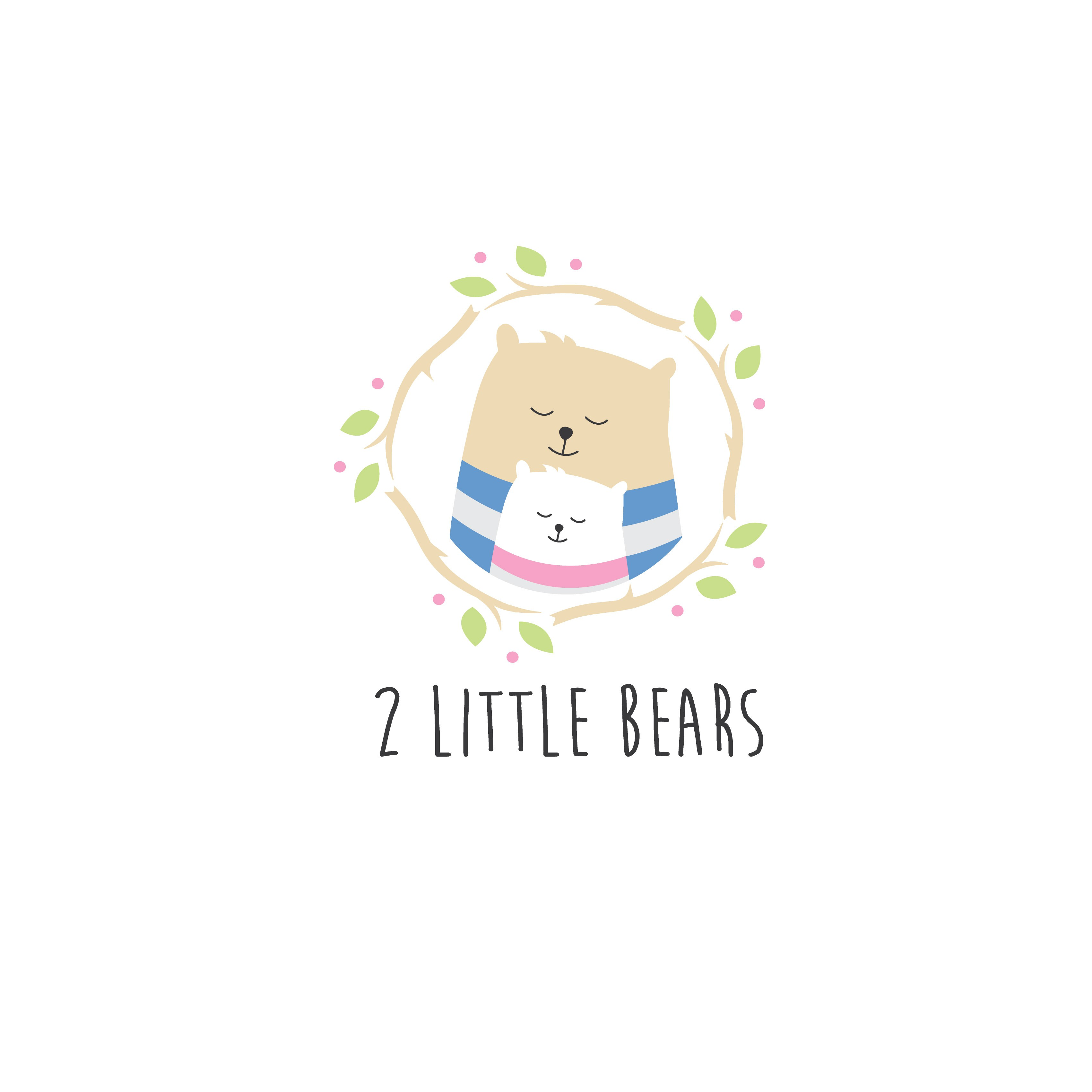 Create a Hipster meets Town & Country logo for 2 Little Bears baby gift shop