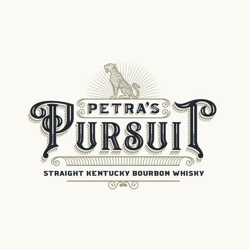 Logo design for a burboun brand Petra's Pursuit