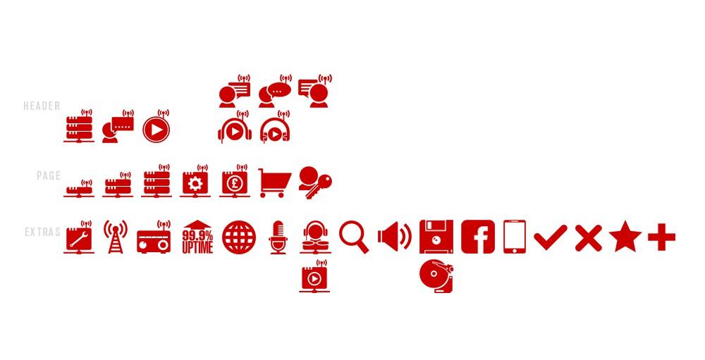 Internet Radio needs new icon / button designs.