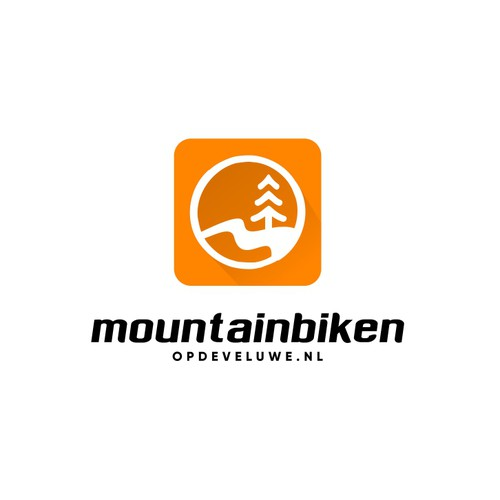 "Cool and simple logo for ""Mountainbiken Opdeveluwe.nl""."