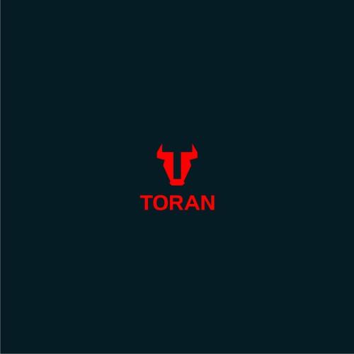 Create a simple, yet assertive bull logo design for TORAN