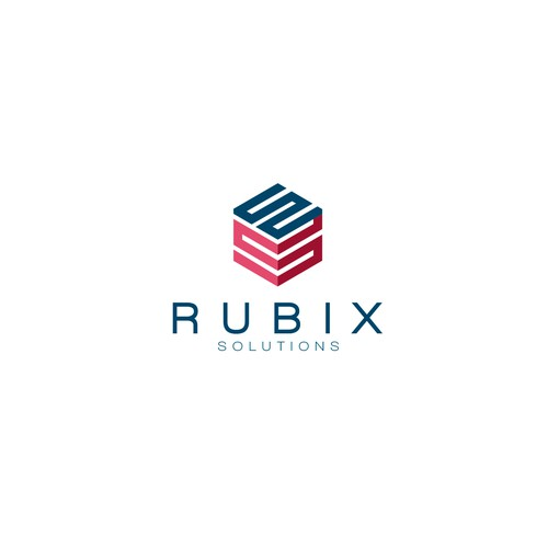 Minimal and clean logo for Rubix Solutions.