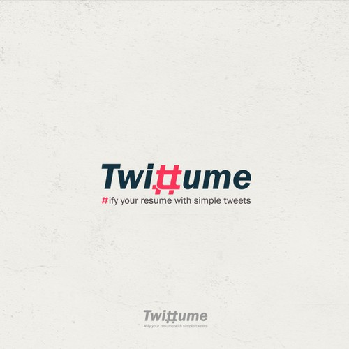 Logo for Twittume site to help professionals and students track their skills using tweets.