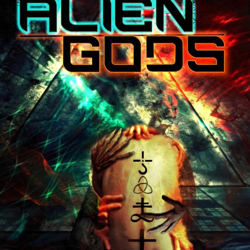 Create the next design for Stephen L. Antczak - ALIEN GODS sci-fi anthology book