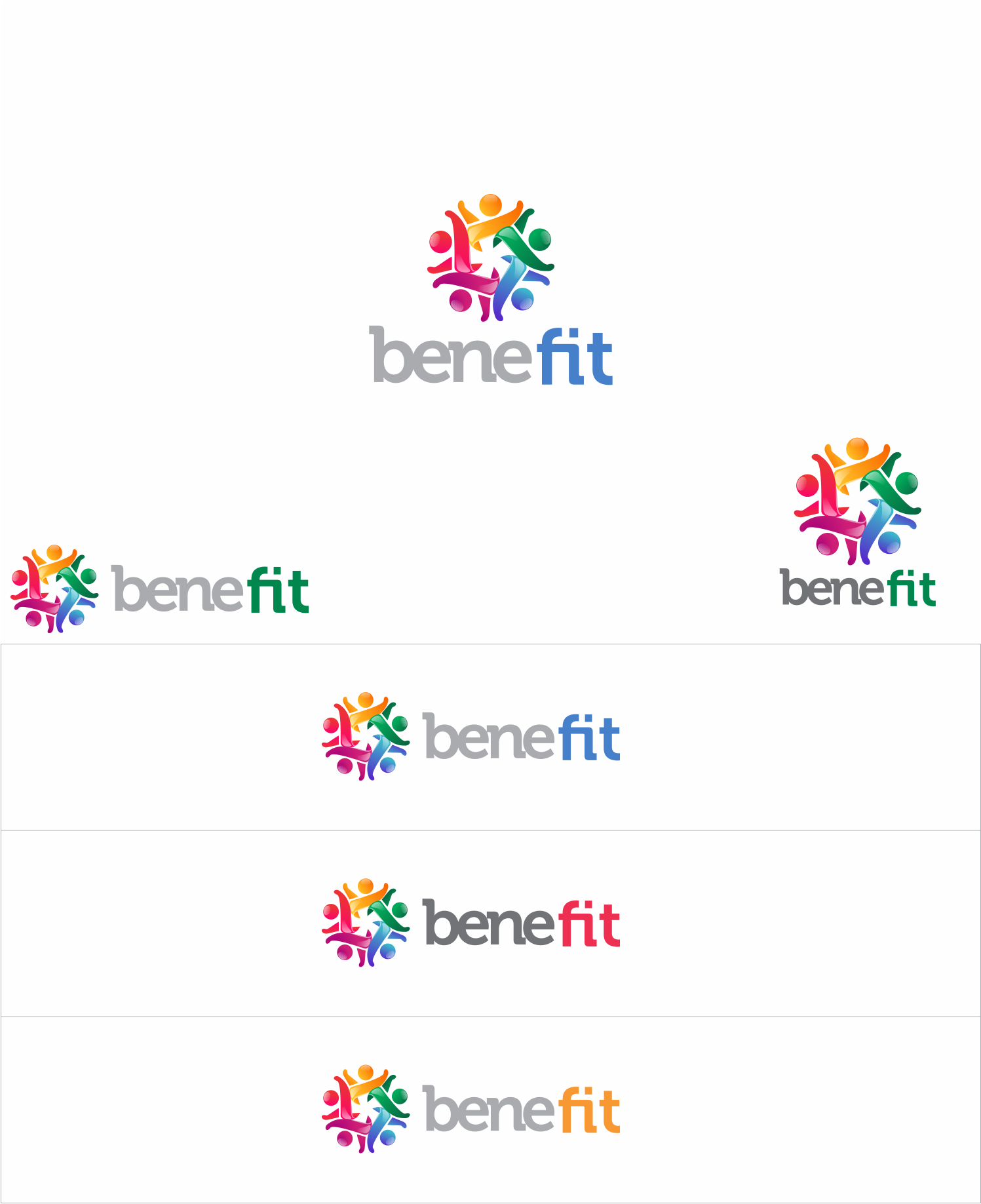 Create a clean, modern and captivating logo for an online wellness benefit program for businesses