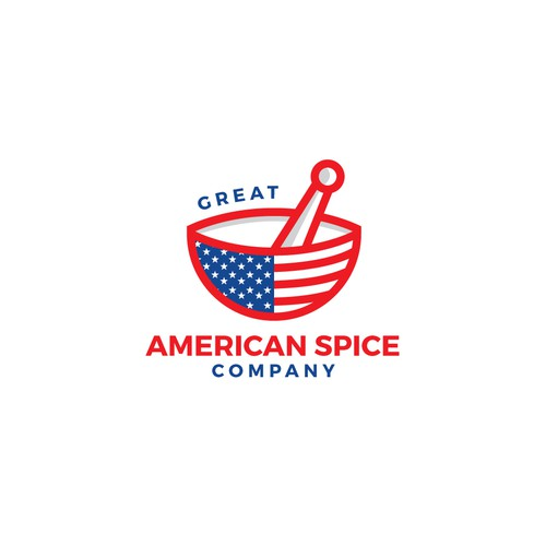 Authentic American logo for the online spice store