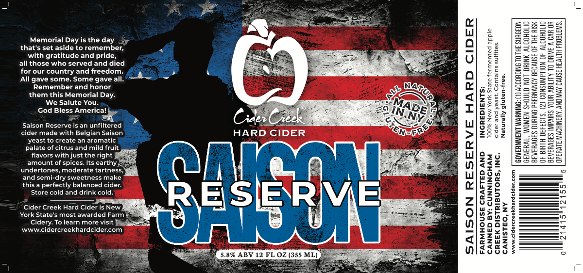 Memorial Day special release Saison Reserve (not shrink sleeved)