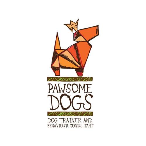 Concept logo for dog trainer