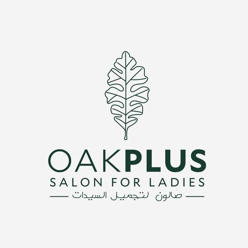 Logo design for Oak Plus Salon