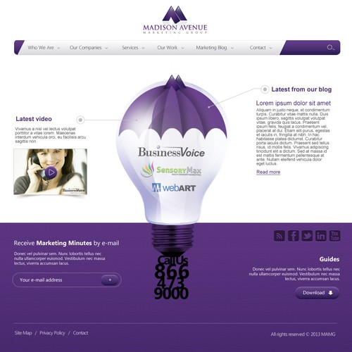 Help Madison Avenue Marketing Group with a new website design
