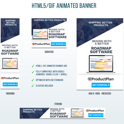 Product Plan HTML5 Banners