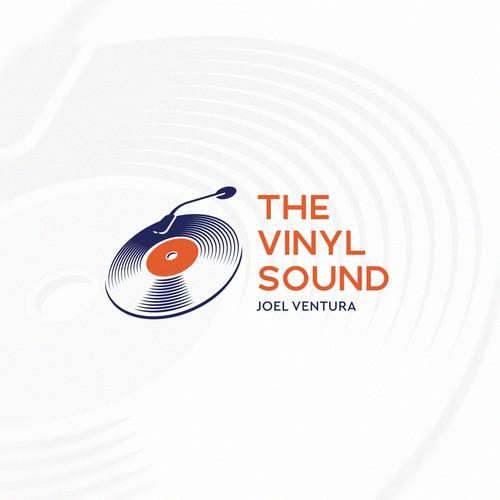 Vinyl logo for a musician