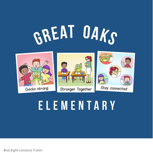 T-shirt Fun illustration for Great Oaks Elementary
