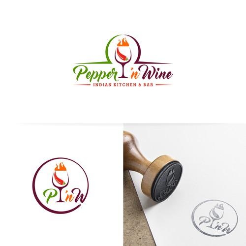 Logo For Pepper 'n Wine