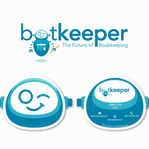 Logo and business card for Bookkeeper
