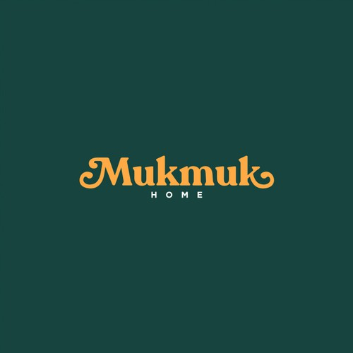 70s Typography Logo for Mukmuk Home