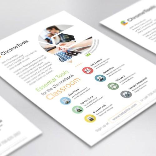 Single-page flyer design