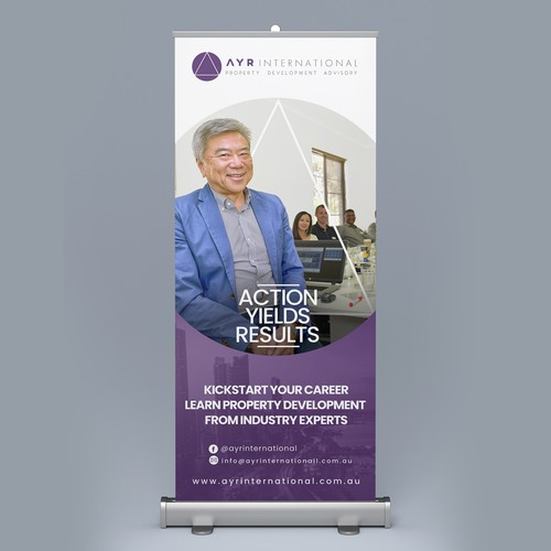 Roll up Banner for AYR International