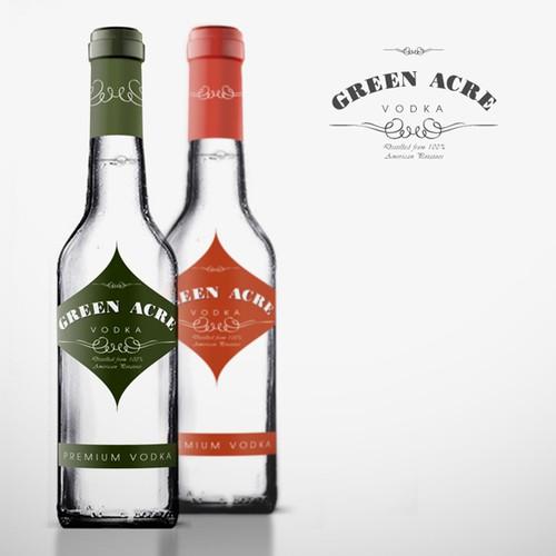 Greene Acres Vodka  Label Design