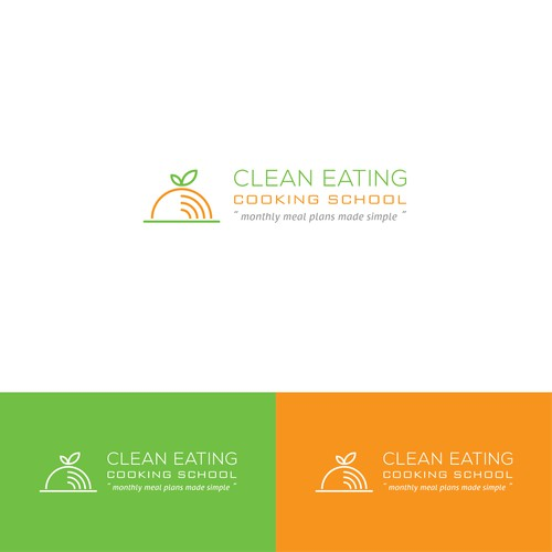 Create a clean, modern logo for new meal planning program Clean Eating Cooking School.