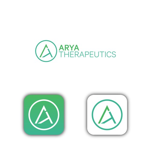 Logo for healthcare/science company