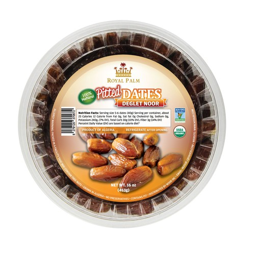 Pitted dates packaging label