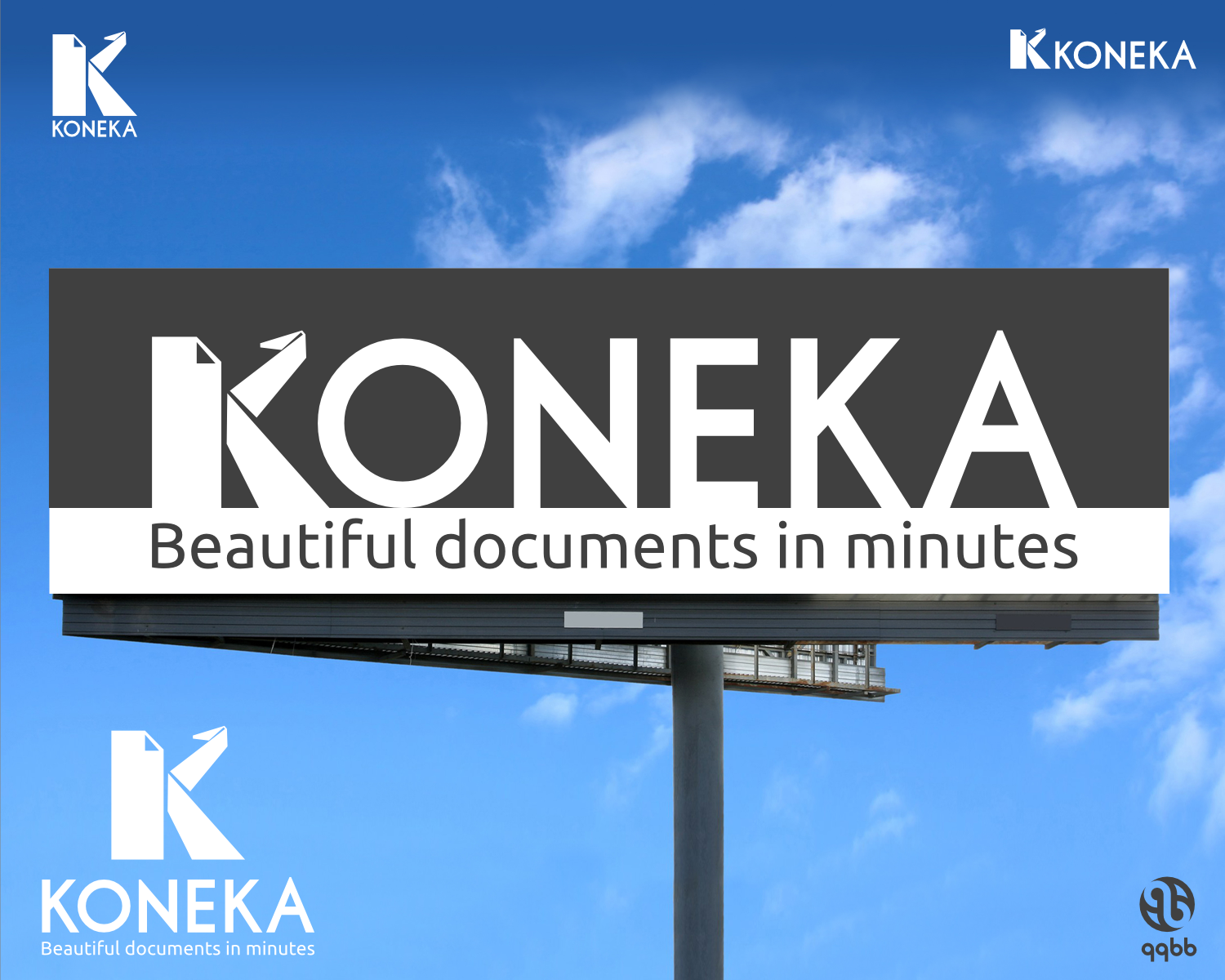 Origami, iconographic logo for Koneka.com: Beautiful documents in minutes