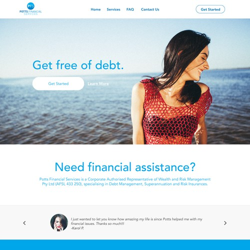 A Fresh Face for Financial Service Website
