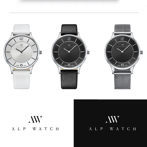 Logo for swiss alp watch company