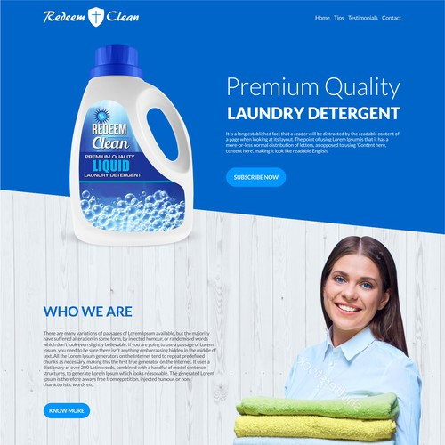 Home Page For Detergent Powder