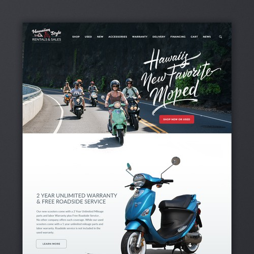 Scooter Sales Site