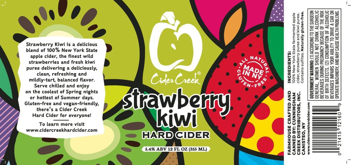 Strawberry-Kiwi Hard Cider label (not shrink sleeved)