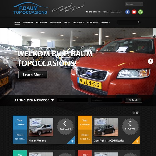 Web design Car Company