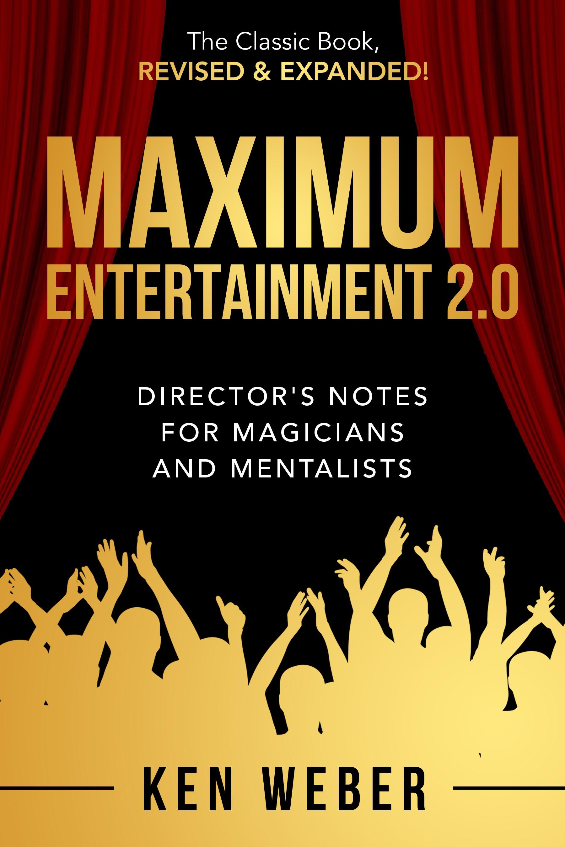 """""""MAXIMUM Entertainment"""" book cover requires maximum creativity."""