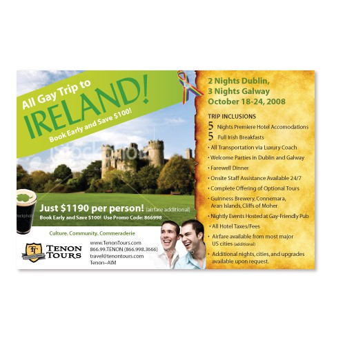 Ireland Travel Promo Card (4x6)